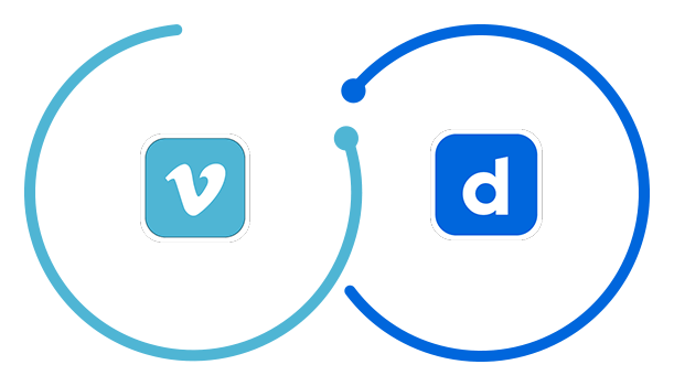 vimeo and dailymotion logos